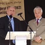 Koncz Gábor színművész és Semjén Zsolt a megnyitón