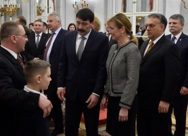 Áder János; Kövér László; Herczegh Anita; Orbán Viktor; Semjén Zsolt