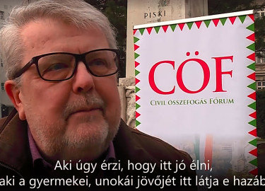 Csizmadia László, a Civil Összefogás Fórum (CÖF) alapítója