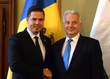 moldáv külügyminiszter fogadása