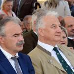 Nagy István agrárminiszter (balról) és Semjén Zsolt miniszterelnök-helyettes (jobbról) az Országos Vadásznapon Putnokon, 2018.09.08-án (Fotó: Váli Miklós)