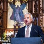 Semjén Zsolt beszél soproni Szent Mihály-templom újraszentelésén. Fotó Botár Gergely.